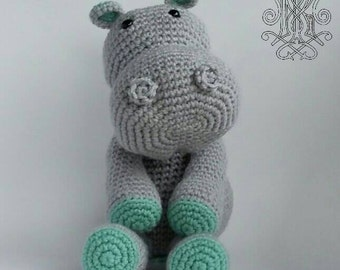 Hippo Stuffed Animal - Baby Toy - Toddler Toy