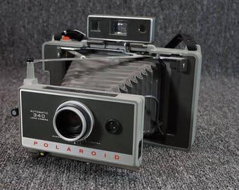 Vintage Polaroid 340 Automatic Land Camera With Case & Detachable Camera