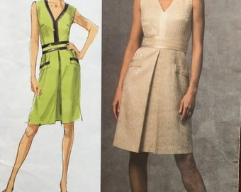 Vogue V1026 Badly Mischka Sewing Pattern Dress Misses Size (12-14-16)