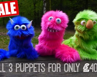 3 Professional Puppets SALE!