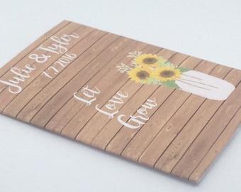 Sunflower Wood Favors, Sunflowers Seed Wedding Favors, Sunflower Seed Favors, rustic wood favors, sunflower pallet