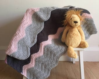 Shades of grey baby blanket
