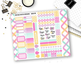 1005-PK // PERSONAL Trifold Insert Sticker Kit // Think Beautiful Collection // Planner Stickers