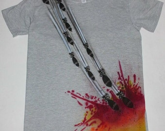 "Custom Airbrush Graffiti Streetart Shirt ""Bomb"" Unikat Style"