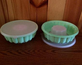 Tupperware Jello Mold - Tupperware Jel Ring Mold - Jello Mold - Vintage Tupperware - Mint Green Tupperware
