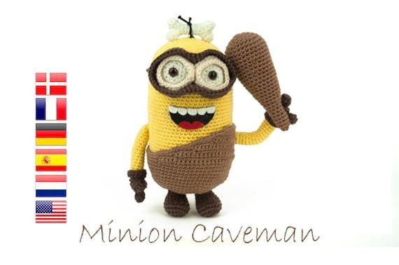 Crochet pattern Minion Caveman