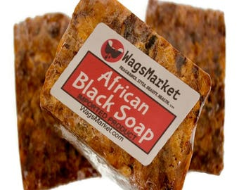 AFRICAN BLACK SOAP - Raw- (imported) 8oz - 100% Natural and Handmade ***New Low Price*** Black Soap, Natural Soap, organic soaps