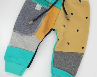 Patch Pants – ECO tracksuit for toddlers grey & honey