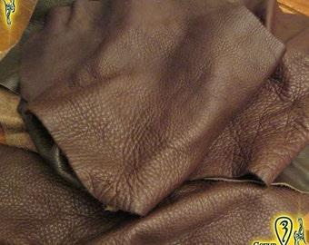 Dark Brown Leather Scrap