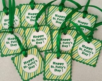 St patricks day gift tags / shamrock tags / st patricks day party tags / st patricks day tags/ st patty's day tags  st patty's day gift tags