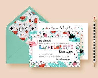 Flamingo Bachelorette Party Invites, Bachelorette Itinerary, Bachelorette Invitations, Bachelorette Weekend, Hen Party, Printable, Printed