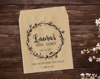Bridal Shower Favor, Seed Favor, Personalized Seed Packets, Wedding Favor, Rustic Wedding, Seed Packet, Rustic Favour x 25
