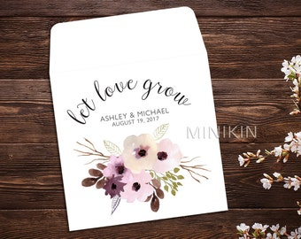Seed packet favors Etsy