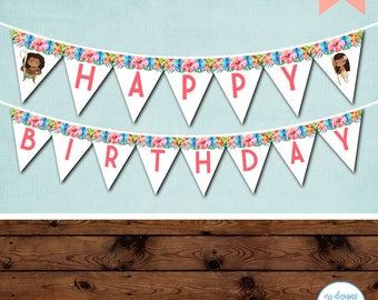 Moana Birthday Banner, Moana Birthday, Moana Party, Moana Birthday Party, Moana Party Banner