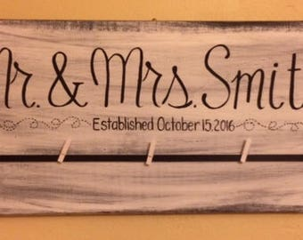 Customized/Distressed/Wedding/Bridal Shower/Personalized Sign