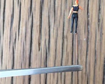 Miniature people. Terrarium people. Punk Girl
