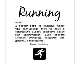 Runner's Card - Definition of Running