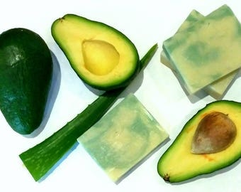 Avocado Soap Natural Avocado Soap, Natural  Soap, Cold Process Soap, Avocado Soap, Shea Butter Soap, Sencitive Skin Soap Handmade Soap