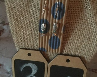 Simple Owl Dangle Earrings Petite Statement Earrings