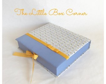 Customized Baby Photo Album + Memory Box Organizer, Handmade Cartonnage
