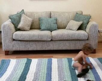 Crochet cotton Rug, Washable Rug, Rag Rug, washable Rug, Rectangular Crochet Rug, Carpet, Bed, Pet. Lots of colors.