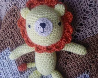 Handmade Crochet Lion Stuffed Animal