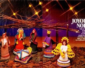 "Christmas Nativity Pattern ... ""Folk-Art"" Creche ...  PDF Crochet Pattern ... Christmas Decoration ... Instant Download"