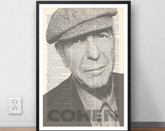 Leonard Cohen dictionary moc wall art print