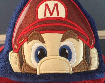 Mario Brothers Nintendo Hooded Towel