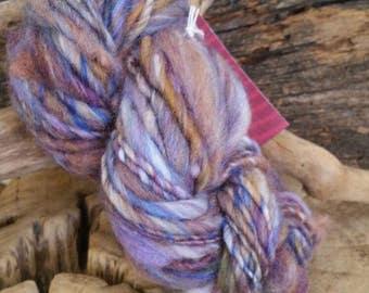 Hand dyed hand spun Art yarn. Yarn. Crochet. Knitting. Fiber. Wool. Alpaca. Lincoln. Acid dye colorfast