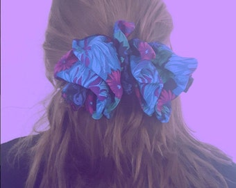 Fun 80's XL Floral Hair Clip/Bow
