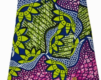 Purple blue green African fabric by the Yard Ankara fabric by the yard Real wax print African fabric wax print fabric cotton