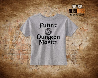 Future Dungeon Master - Dungeons and Dragons T-shirt and Onesie Design - Available in Newborn - Youth Sizes