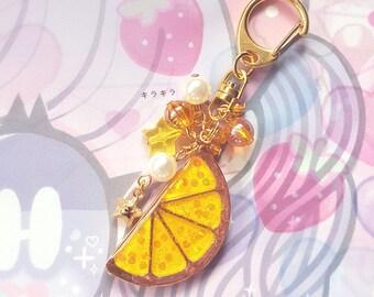 Lemon Slice Bag Charm - Sweet Lolita Fruit Keychain