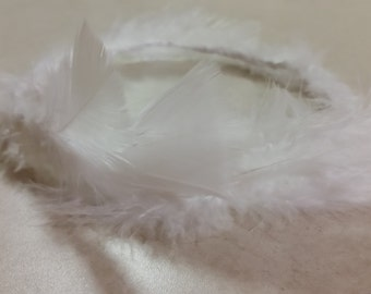 Feathers, White, Confirmation, First Communion, Weddings, Party, Bride, Bridesmaid, Flower Girl, Hens Night, Halloween, Music Festival