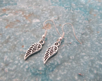 Wing earrings, angel earrings