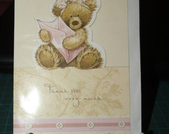 Acceptance Card  Thank You Very Much Teddy with Envelope