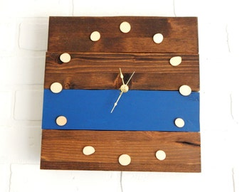 Wooden Clock, wall clock, customizable clock, modern clock, modern rustic clock, wood clock, rustic decor, modern decor, reclaimed wood