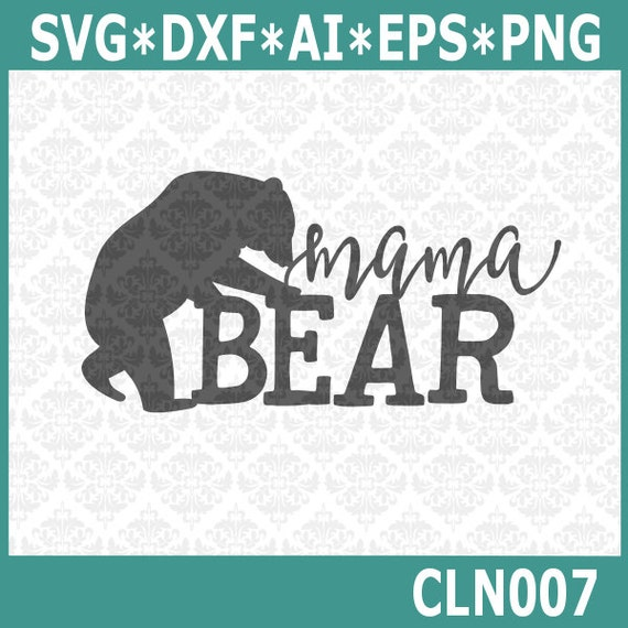CLN007 Mama Daddy Papa Sister Brother Bear Shirt Designs SVG STUDIO Ai EPS Scalable Vector Instant Download Commercial use cricut silhouette