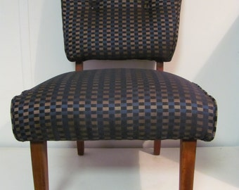Cool Mid Century Modern Slipper Chair With Modern Fabric
