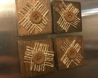 Rustic Magnets--SET of 4