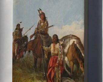 Canvas 24x36; 'Indians Hunting' By John Mix Stanley, Cincinnati Art Museum