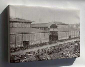 Canvas 24x36; Les Halles, Central Market Paris, France 1867 P2