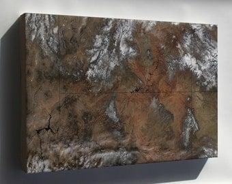 Canvas 24x36; Grand Canyon Satellite Image