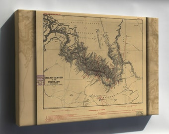 Canvas 24x36; Map Of Grand Canyon Of The Colorado River 1904