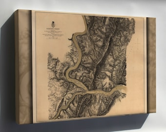 Canvas 24x36; Map Of Harpers Ferry 1863