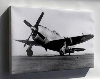 Canvas 16x24; Jug, The P-47 Thunderbolt