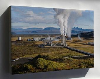 Canvas 16x24; Nesjavellir Geothermal Power Plant In Þingvellir, Iceland