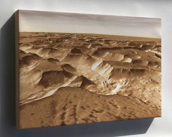 Canvas 16x24; Noctis Labyrinthus On The Planet Mars