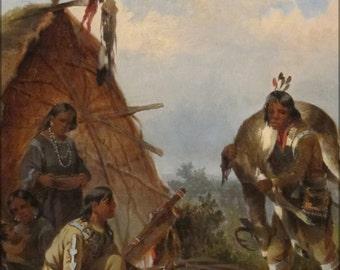 16x24 Poster; 'Indians With Deer' By John Mix Stanley, Cincinnati Art Museum